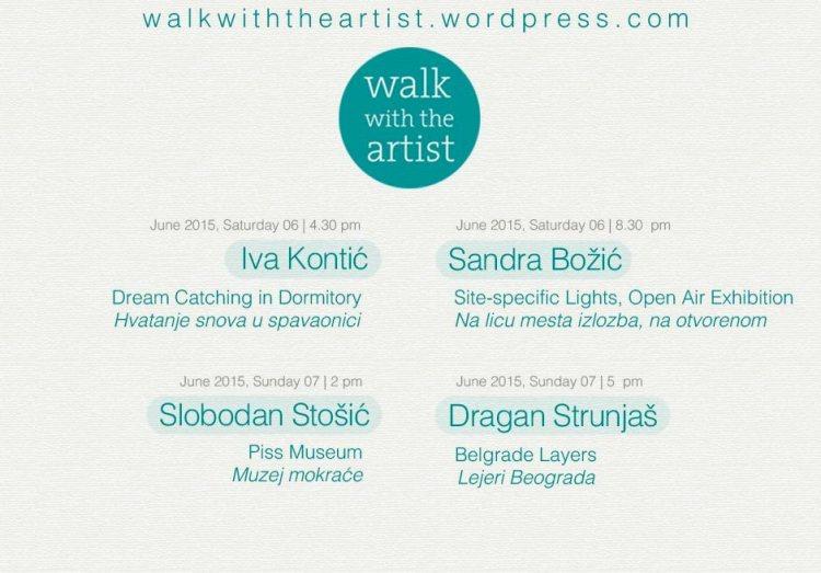 Walk with the artist - program