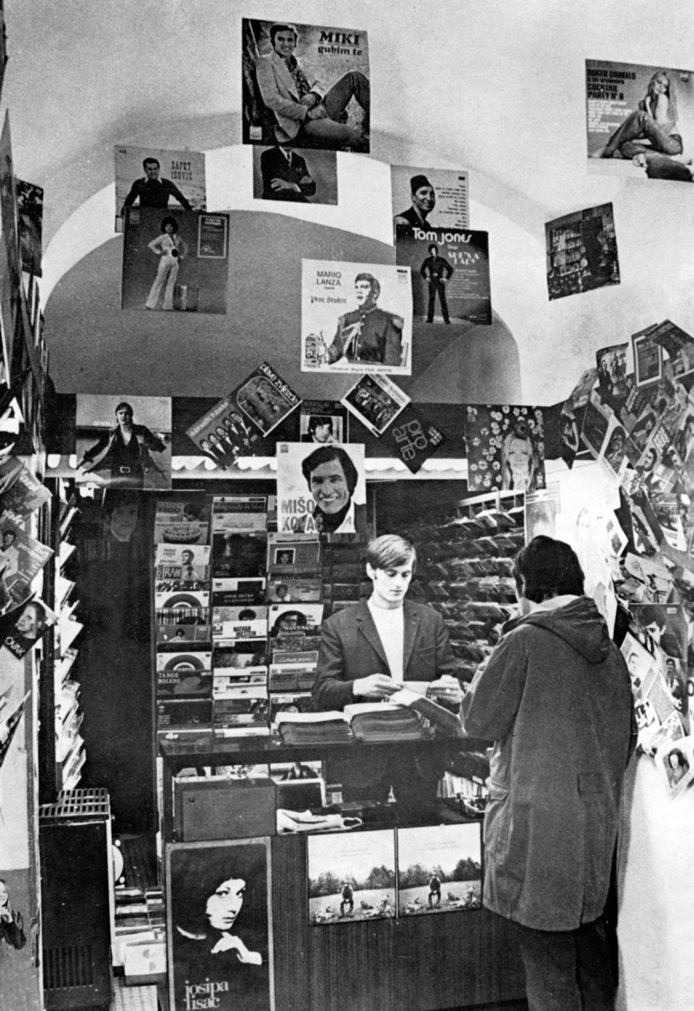Mala prodavaona ploca Novi Sad 1970