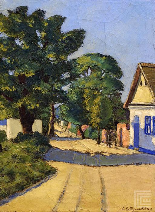 Seoska ulica sa drvoredima, 1933
