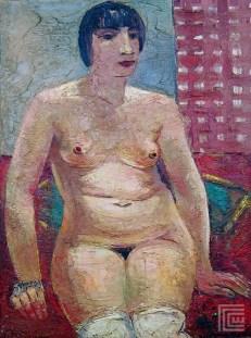 Pariski model Kiki (Sedeći ženski akt), 1929